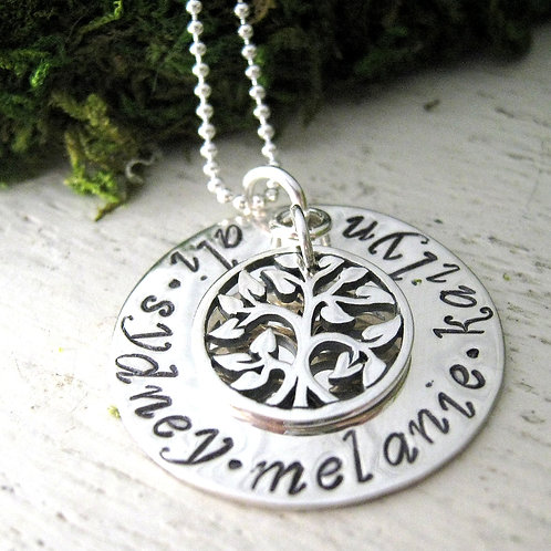 Love All Around Family Tree - hand stamped jewelry