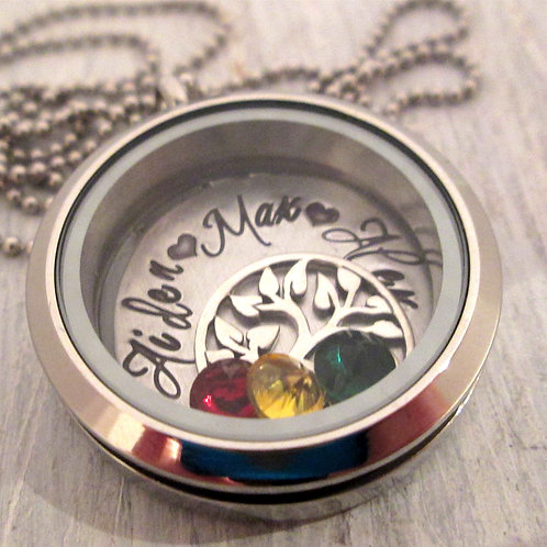 Family Tree Locket - Mothers Necklace