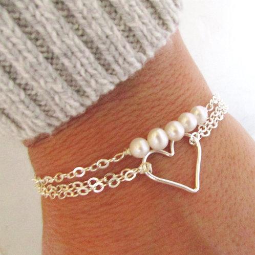 Bridesmaid Bracelets - Pearl Bracelet - Layering