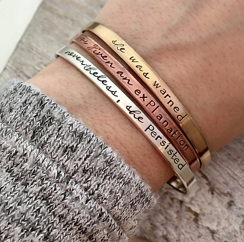 Nevertheless, She Persisted  Bracelet Set - Mixed