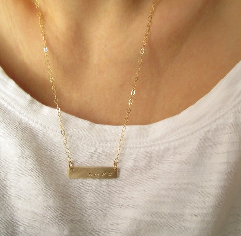 Layering Necklace - Gold Bar