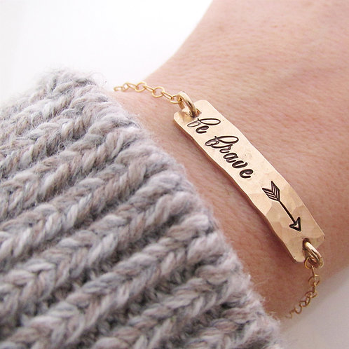 Be Brave Gold Filled Bracelet - Arrow Bracelet