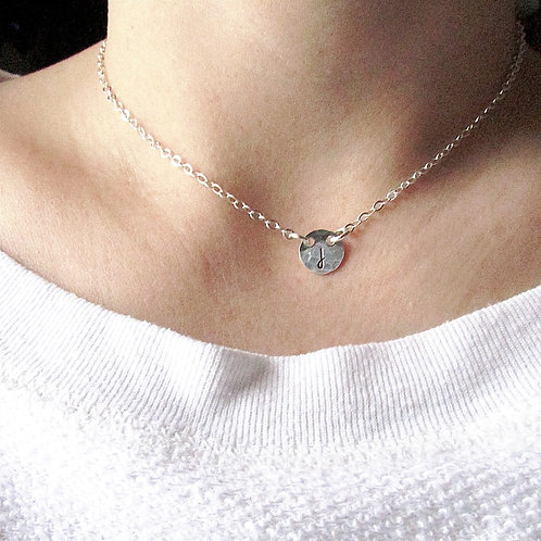 Tiny Initial Necklace - Bridesmaid Jewelry