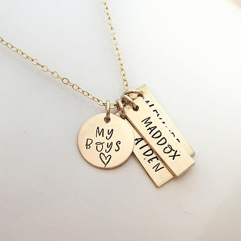Gift for Mom of Boys - Gold Filled