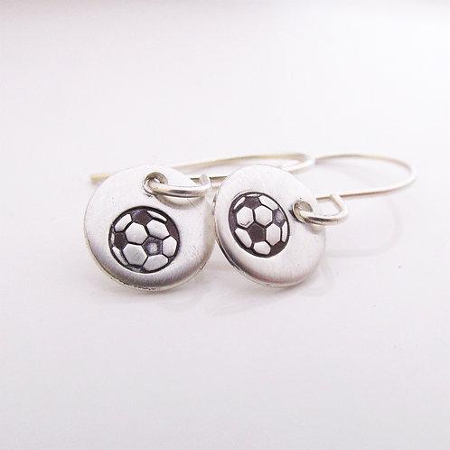 Mini Soccer Ball Earrings