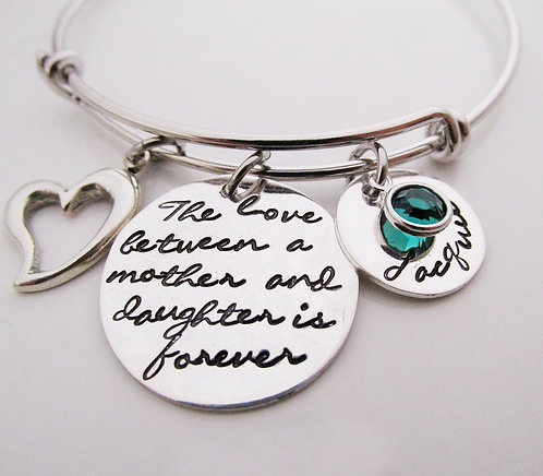 Personalized Bracelet - The love between - Mother