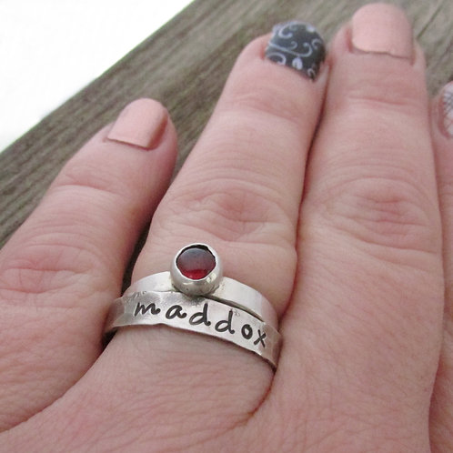 Stacking Rings - Gemstone Mom Rings