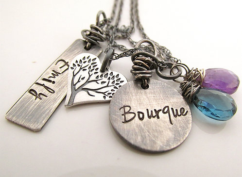 Personalized Jewelry - Rustic Tree Necklace