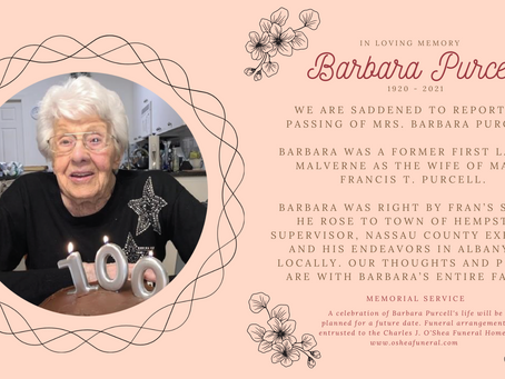 Barbara Purcell 1920 - 2021