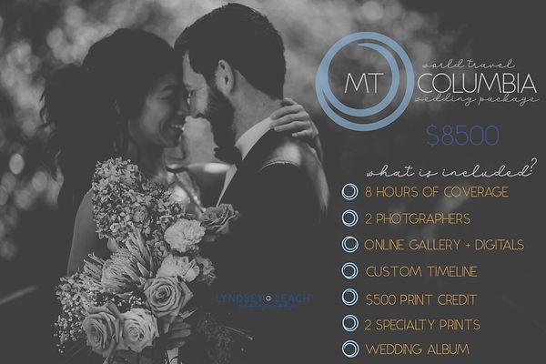 Wedding - Mt. Columbia Package