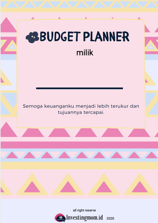 Cover Budget Planner