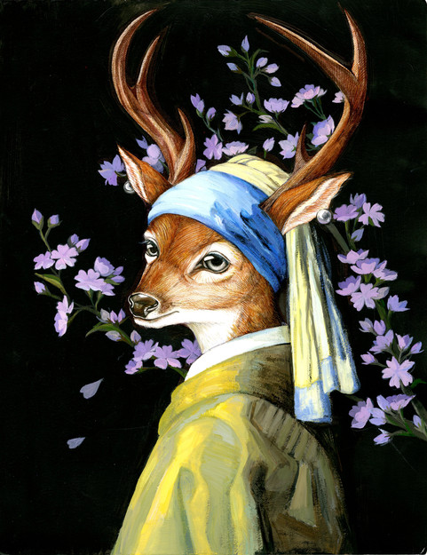 Deer with a Pearl Earring