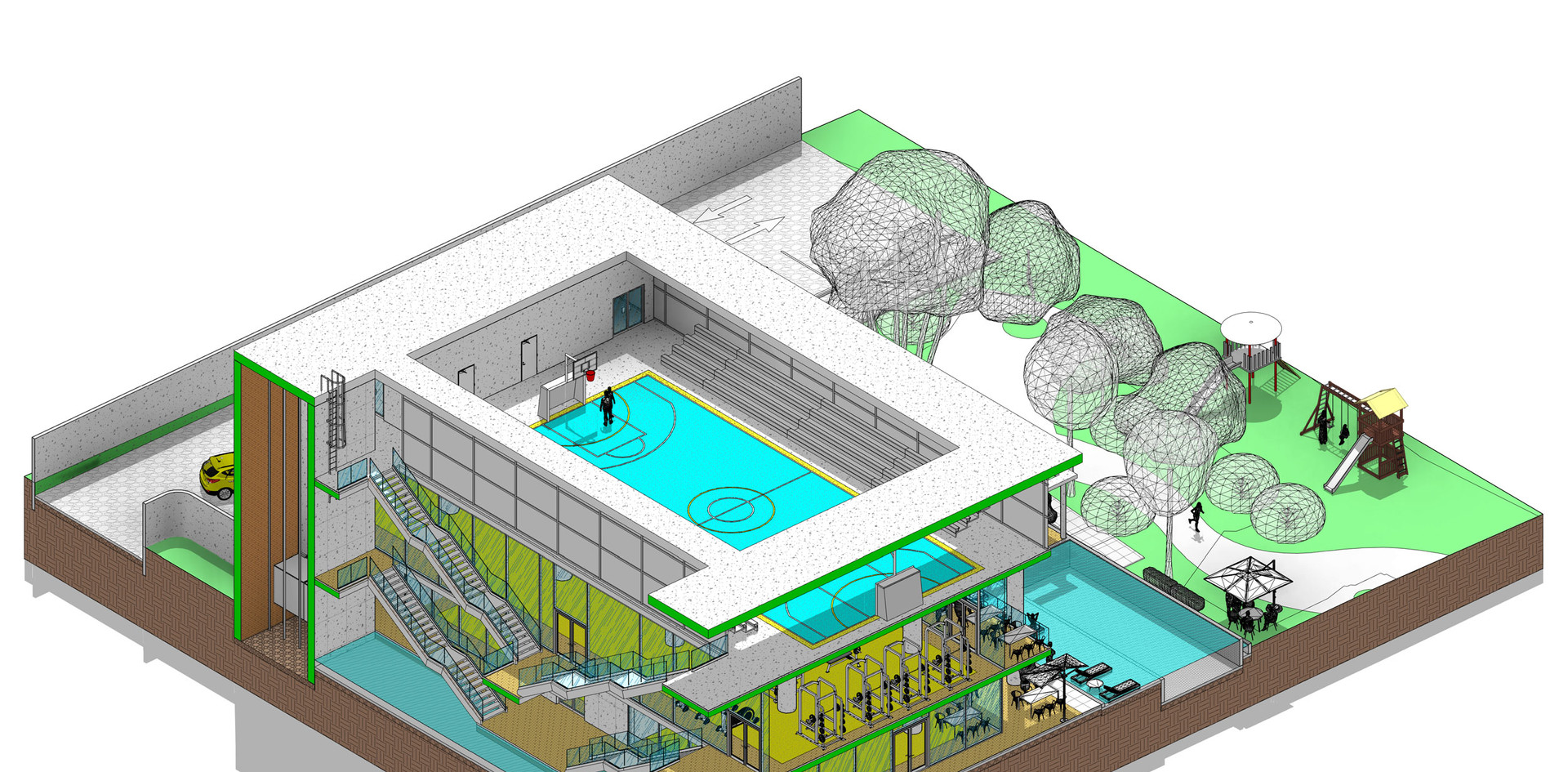 CAPTURA-GYM---3D-View---AXONOMETRICA-04.