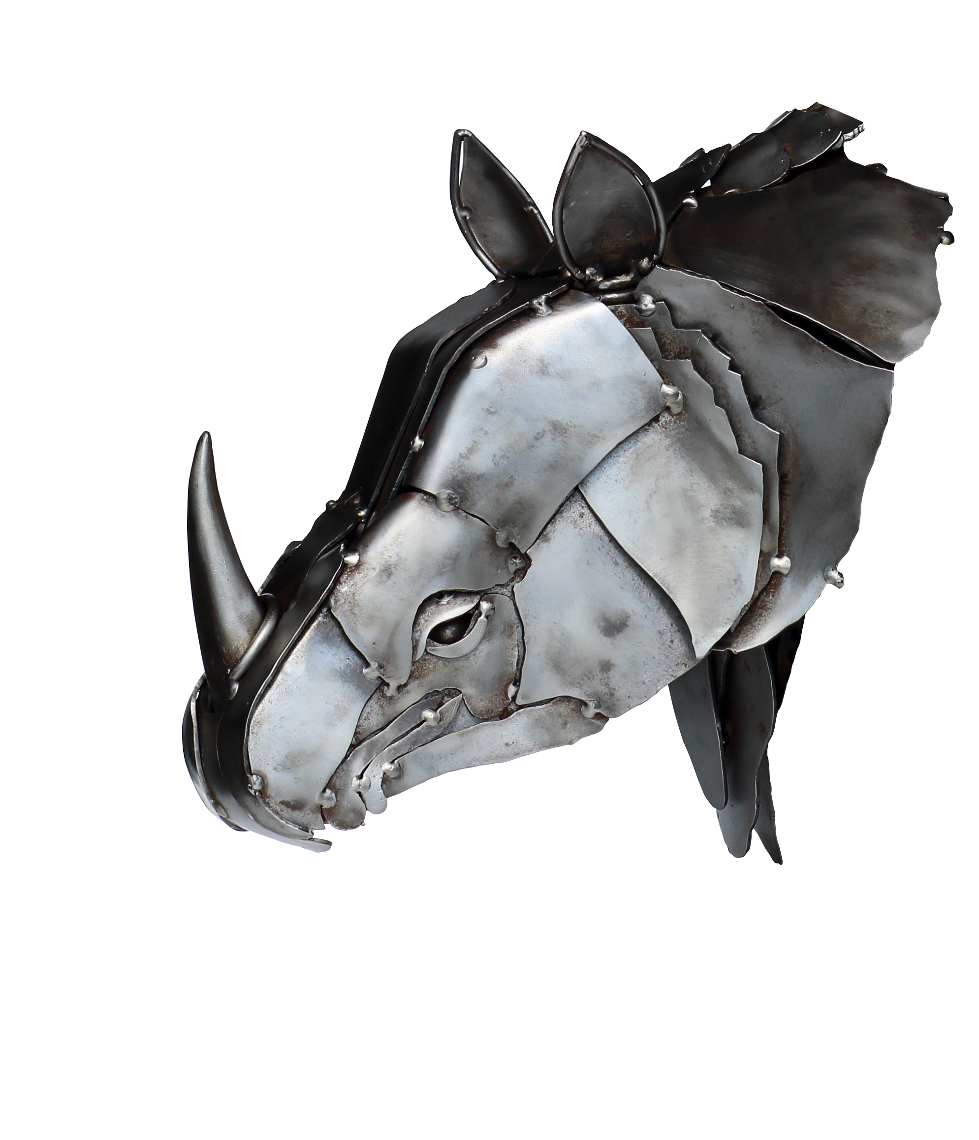 Rhinocéros - sculpture métal