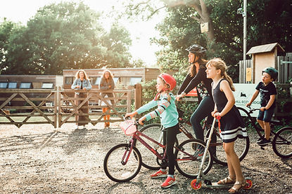 Cycle fun at Clopihll Eco Lodges.jpg