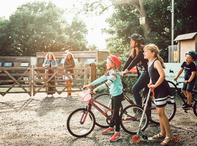 Cycle fun at Clopihll Eco Lodges.jpg