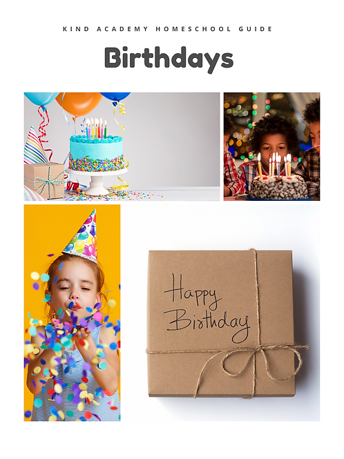 Birthday Theme Curriculum Guide