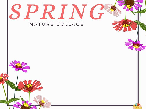 Spring Nature Collage Printable