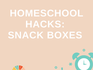 Homeschool Hack of the Day: Snack Boxes