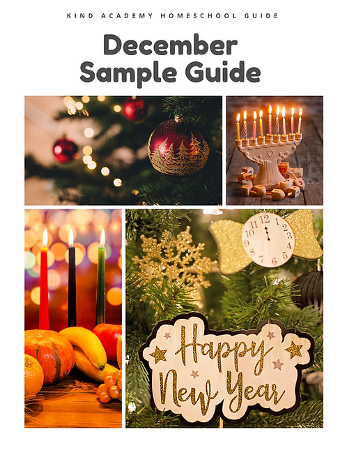December Sample Sensory Curriculum