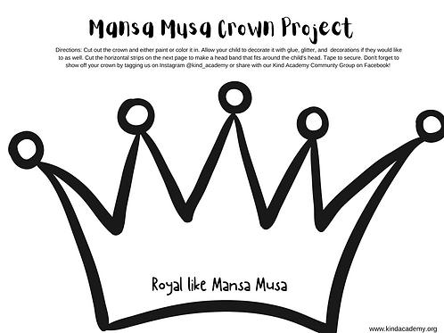 Mansa Musa Crown Craft