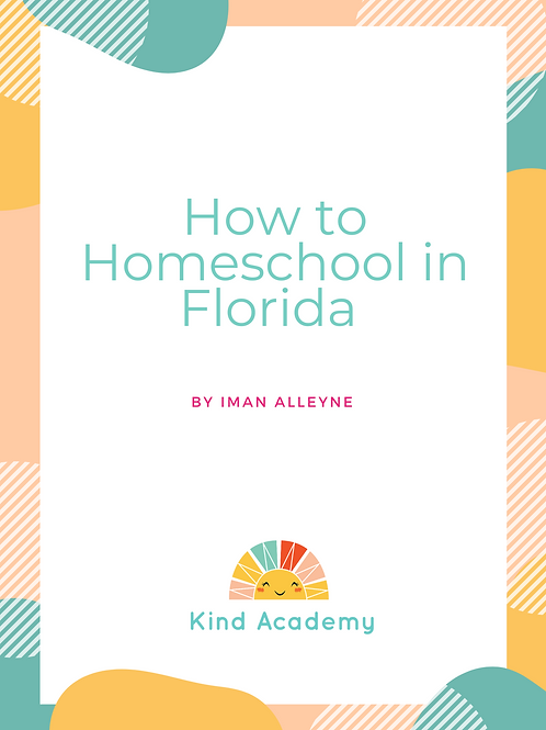How to Homeschool Workbook (Florida)