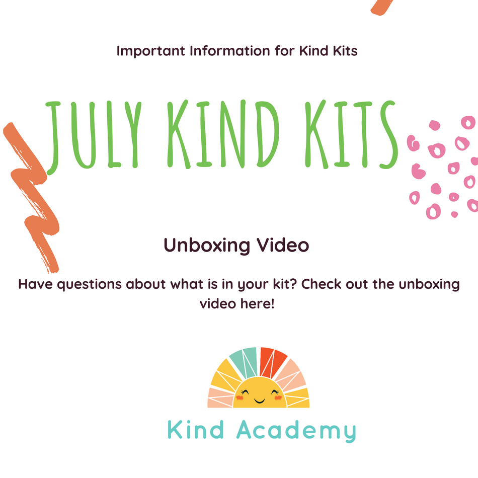 July Kind Kits Cover unboxing video
