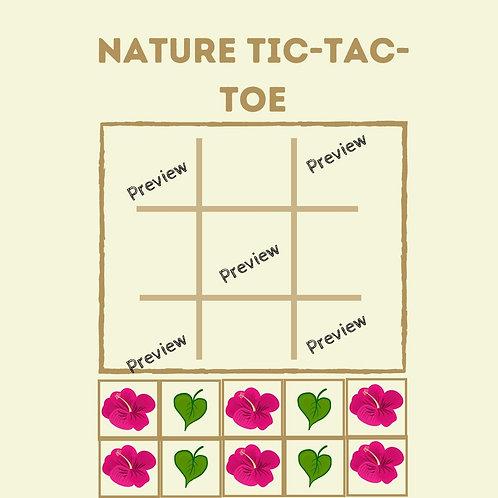 Nature Tic-Tac-Toe Game