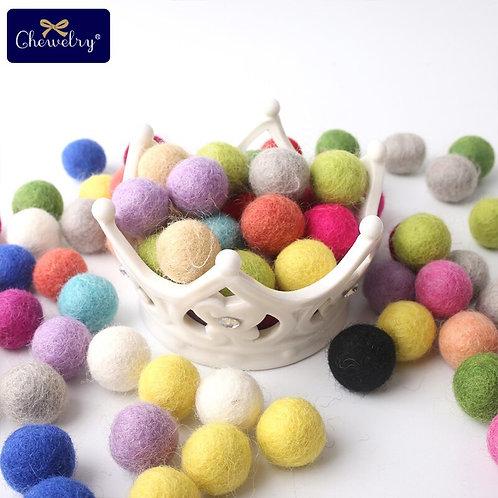 10pc 20mm Colorful Round Wool Felt Balls
