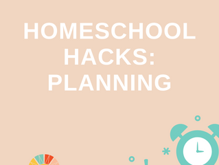Homeschool Hack of the Day: Planning