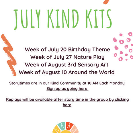 Welcome Information for July!