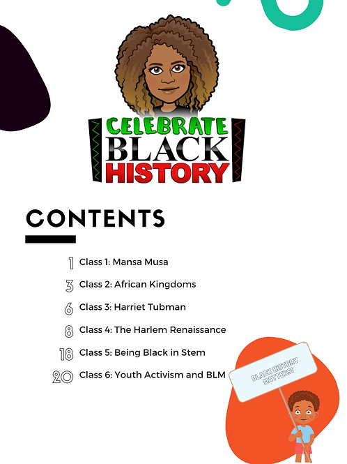 5-10 Year Old Black History Portfolio Journal