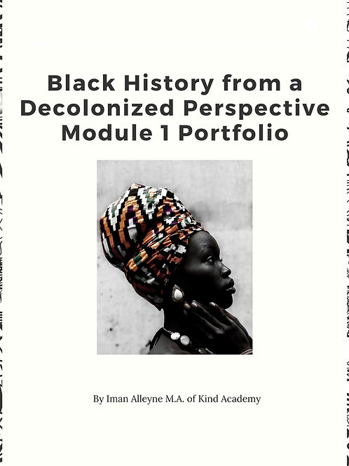 PDF FILE Black History from a Decolonized Perspective Portfolio Workbook