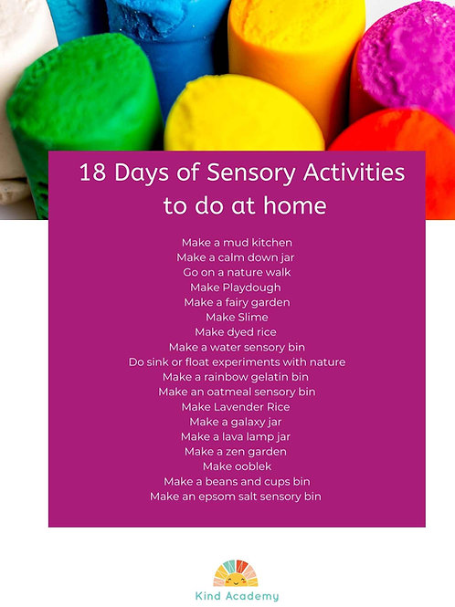 18 Days of Sensory Play Freebie