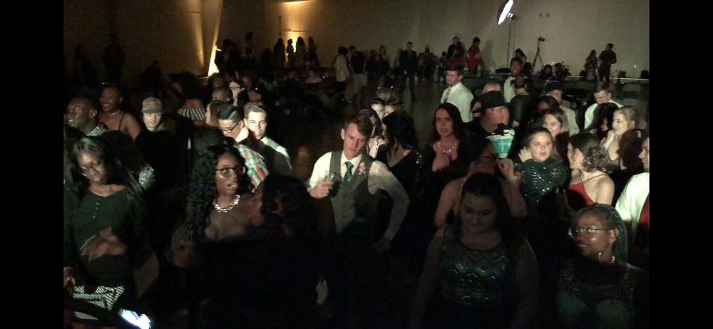 Student body dancing