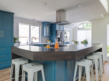 Bold and blue kitchen remodel in Corvallis, Oregon