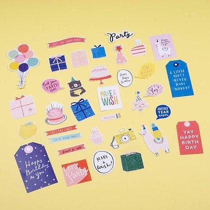 Sticker Die Cut - Birthday (không keo dán)
