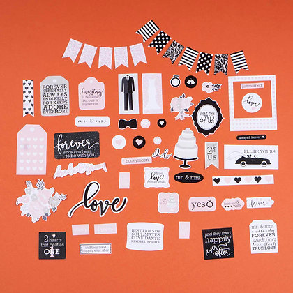 Sticker Die Cut - Wedding (không keo dán)