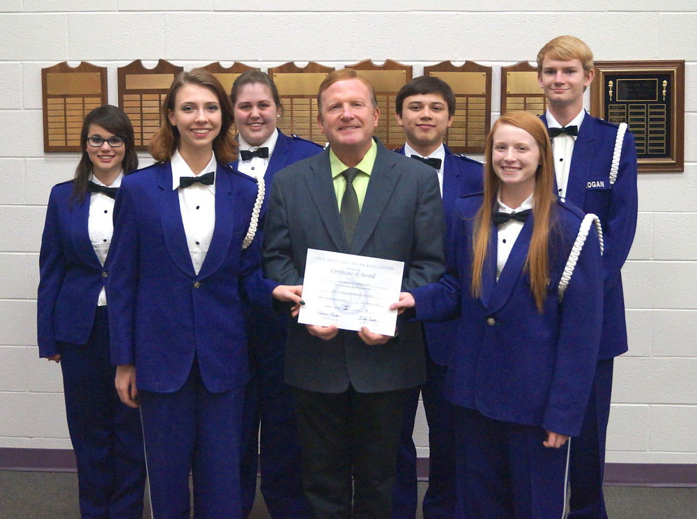 Front Row: Vice President Hannah Barlow, Director Jeff North, President Josie Duke. Second Row: Librarian Miranda Thompson, Secretary Maddy Gallagan, Librarian Austin Ly and Treasurer Riley Kelch.