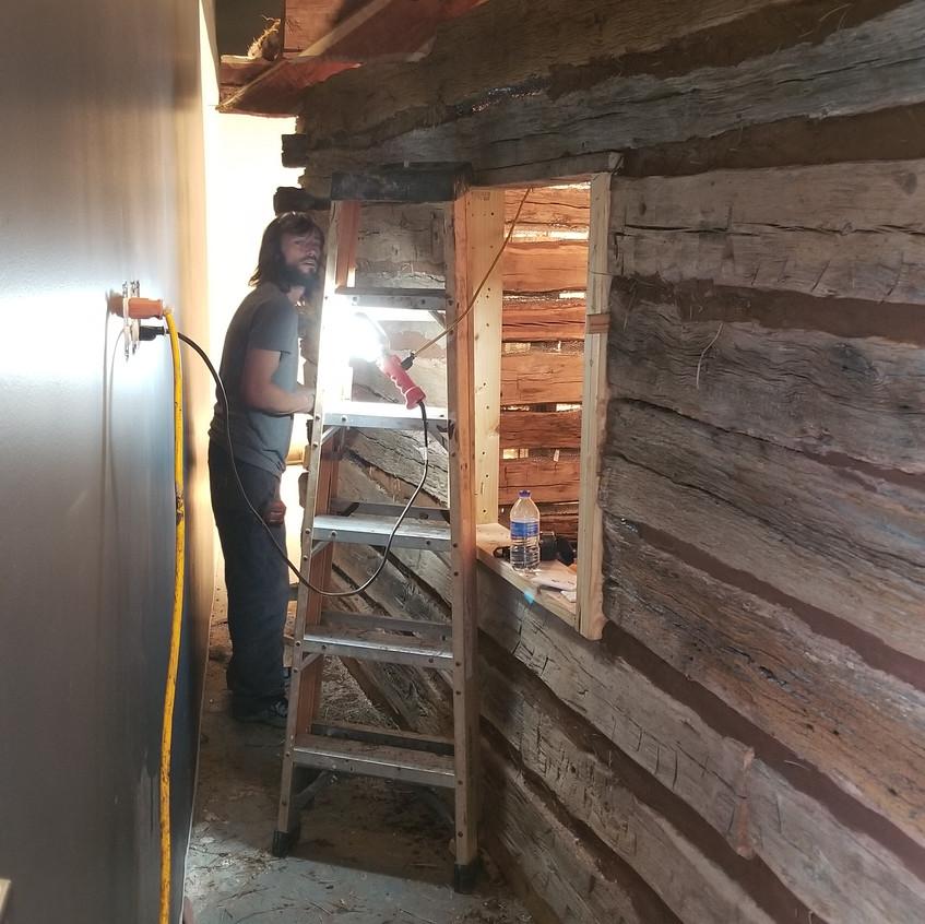 cabin mud chinking 2