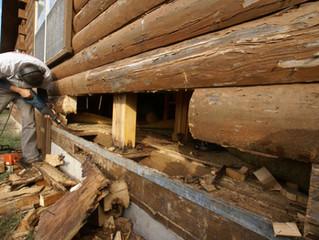 Log Home Roof Overhangs