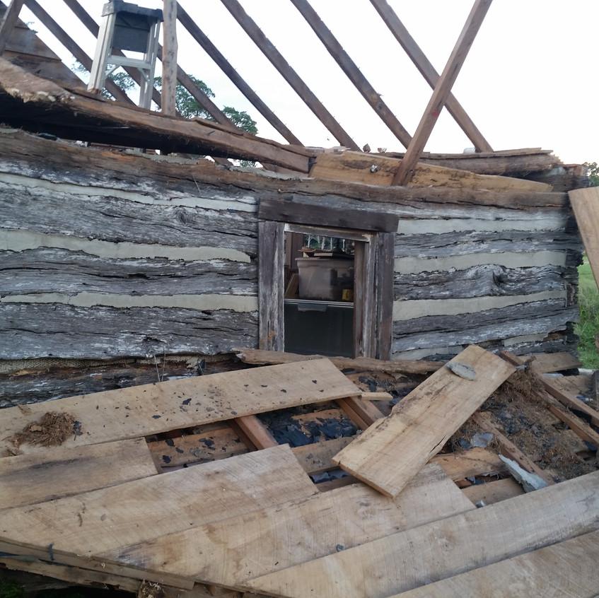 cabin gable tear