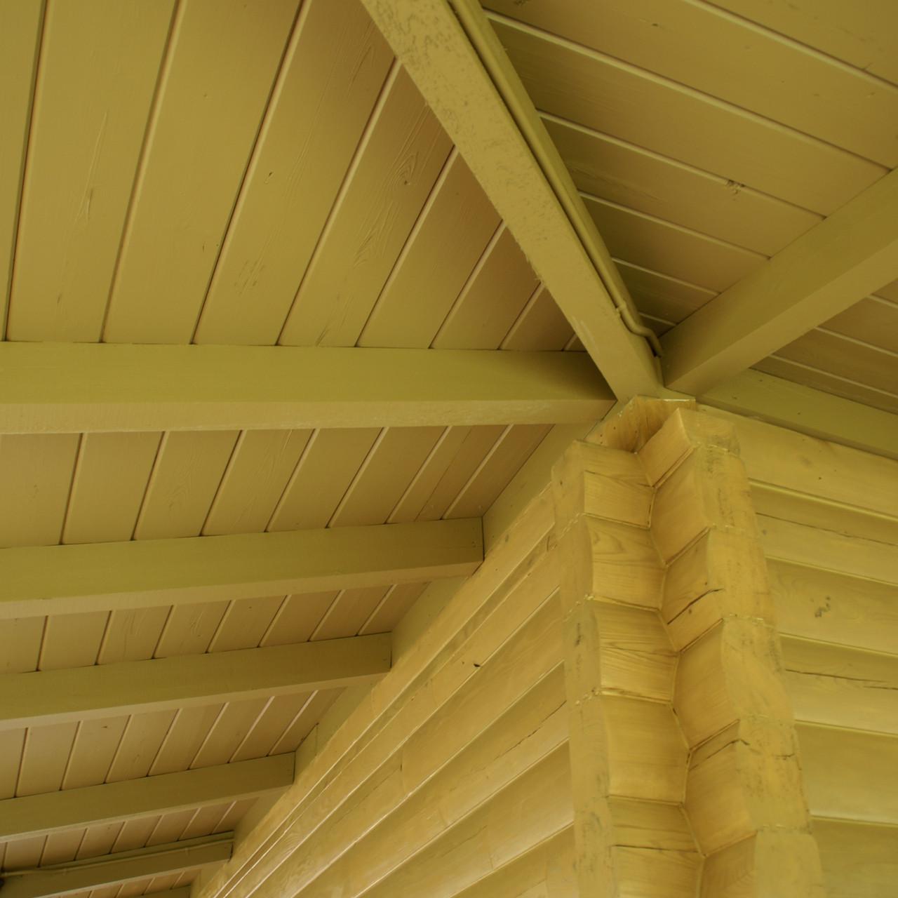 cypress log home ceiling