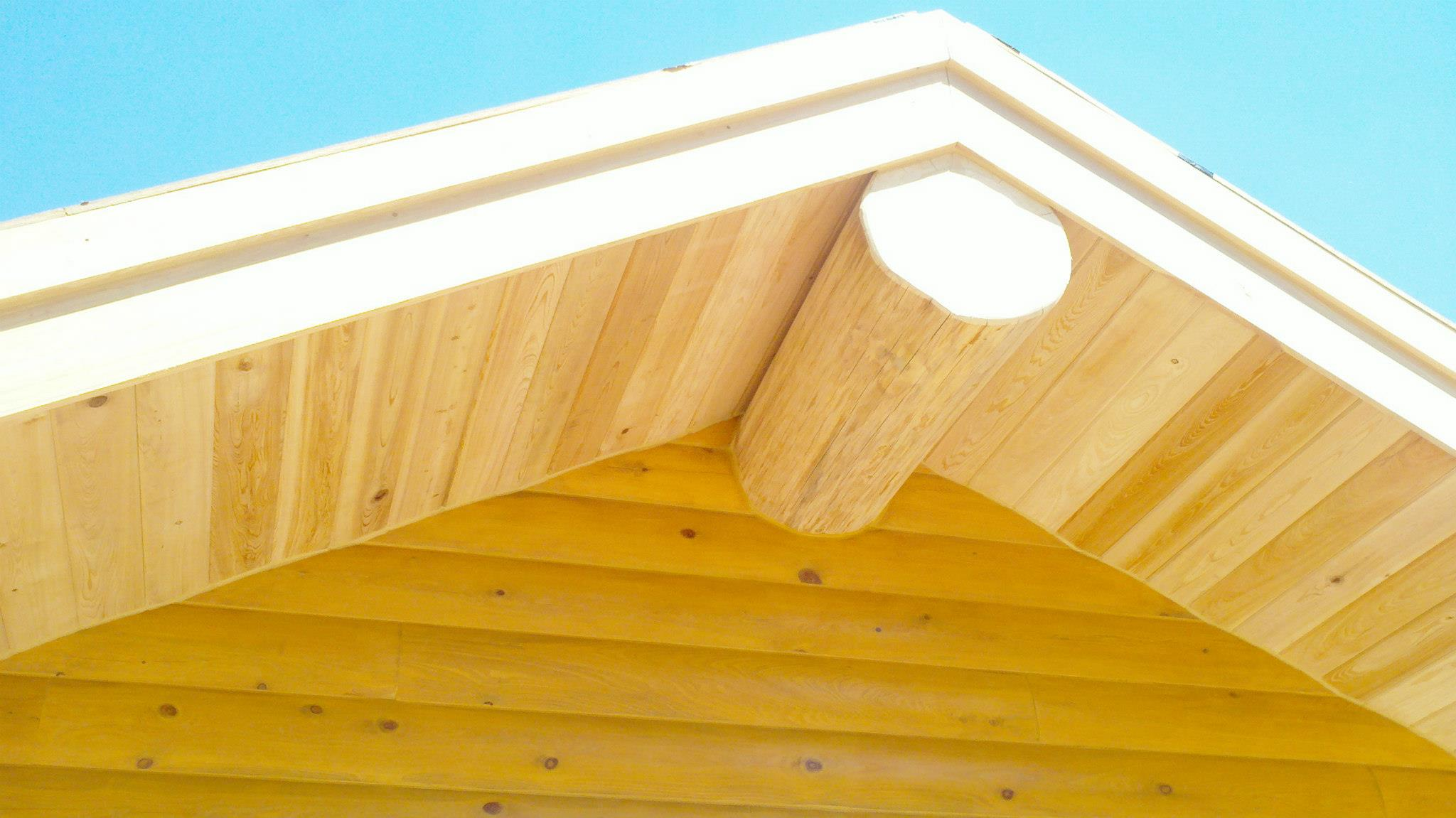 Custom Log Home soffit