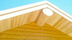 Custom Log Home soffit