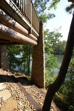 Log Home Column