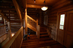 Custom Log Home Stairs