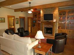 interior custom log home