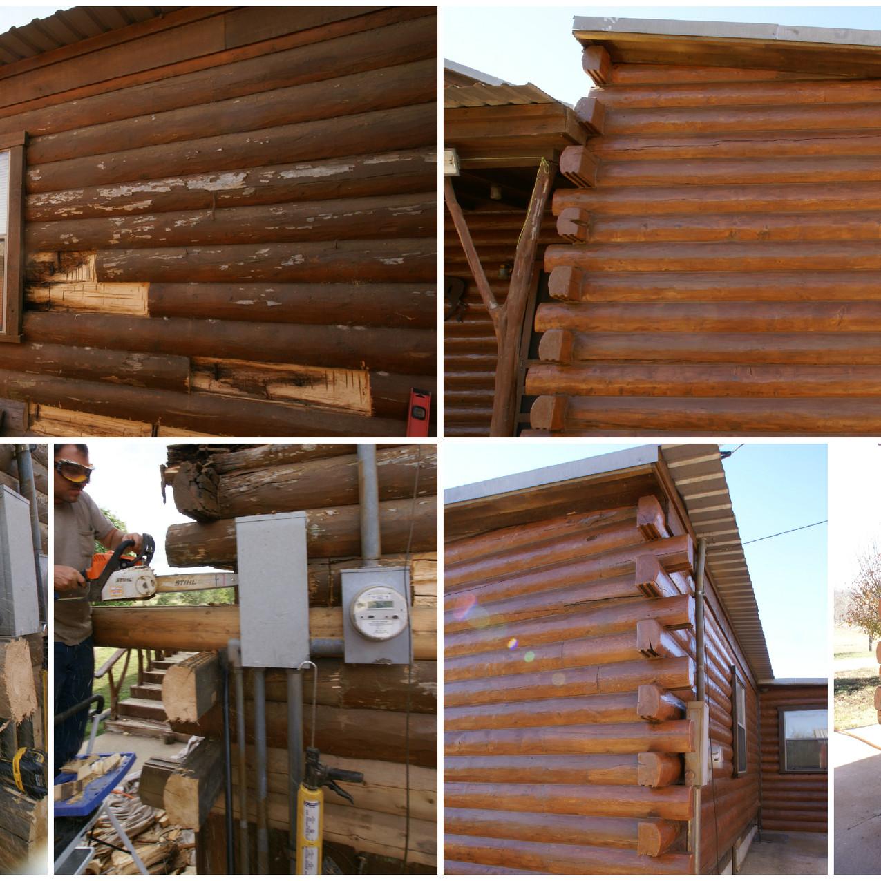 Log Home corner repair