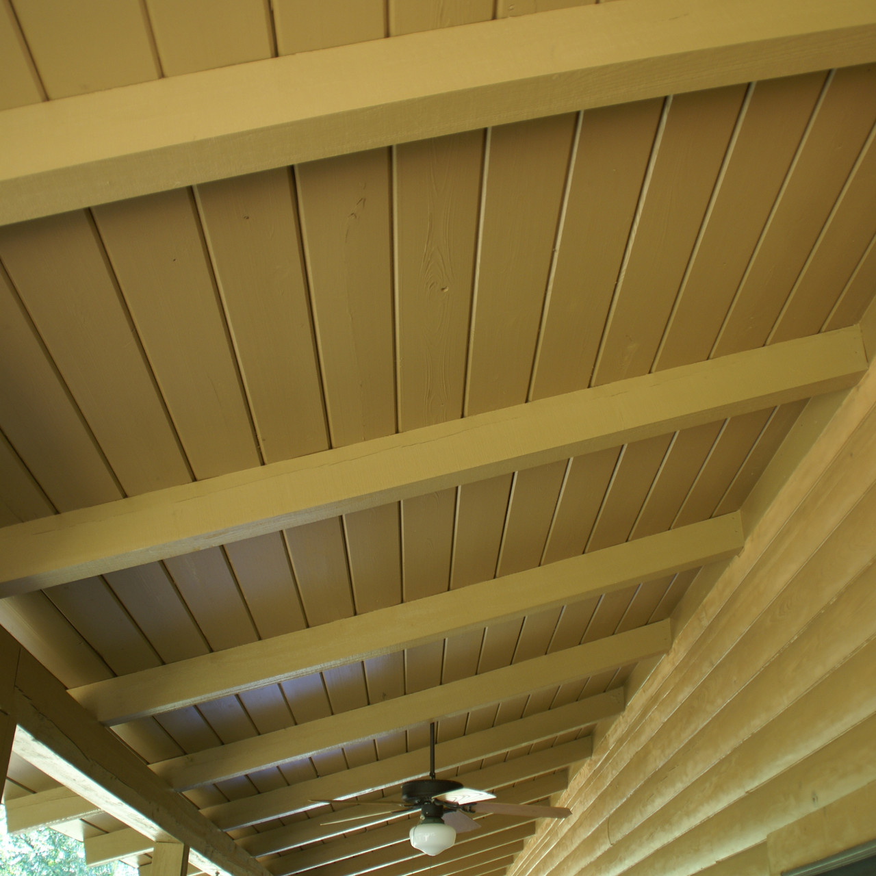 finished cabin ceiling